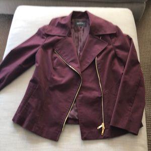 Women's burgundy Lafayette 148 ny jacket